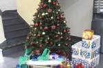 Foto com as doações para Casa Betânia